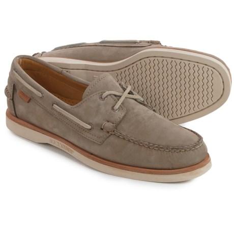 Sebago Crest Docksides® Boat Shoes (For Men) in Darkk Taupe Nubuck