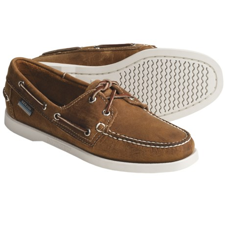 Sebago Docksides Boat Shoes - Leather (For Women) in Chocolate Nubuck