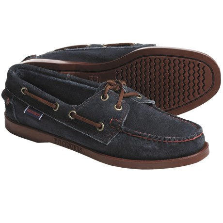Sebago Docksides Boat Shoes - Leather (For Women) in Mariner Navy