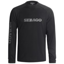 Sebago Ed Baird Tech T-Shirt - UPF 30, Long Sleeve (For Men) in Black - Closeouts