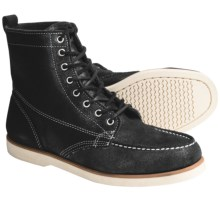 Sebago Fairhaven Leather Boots (For Men) in Black Rough Out - Closeouts