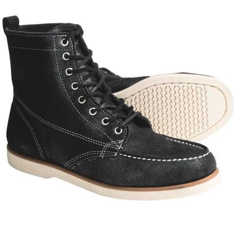 Sebago Fairhaven Leather Boots (For Men) in Black Rough Out