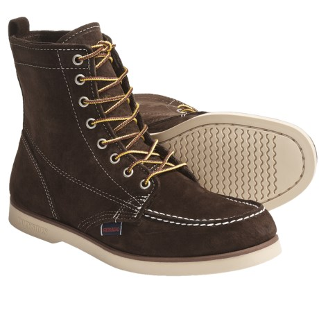 Sebago Fairhaven Leather Boots (For Men) in Brown Rough Out