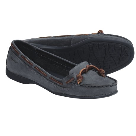Sebago Felucca Lace Shoes - Leather (For Women) in Black Cherry