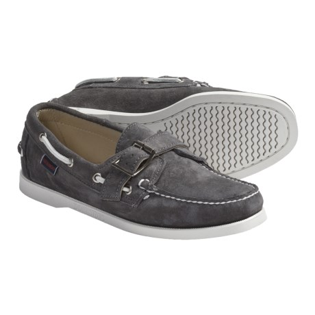 Sebago Harthaven Boat Shoes - Leather (For Women) in Grey