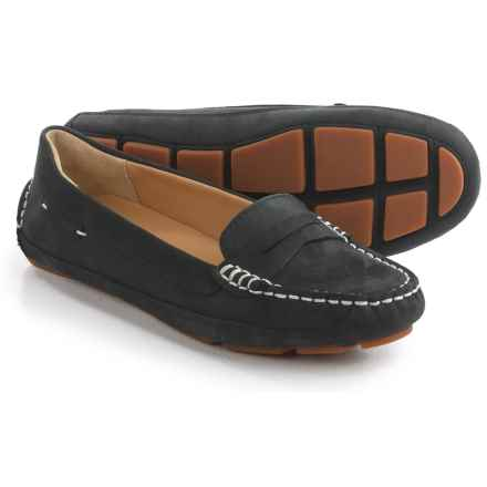 Sebago Kedge Penny Loafers - Nubuck (For Women) in Black - Closeouts