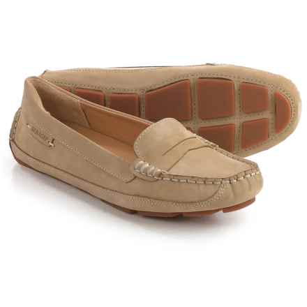 Sebago Kedge Penny Loafers - Nubuck (For Women) in Taupe - Closeouts