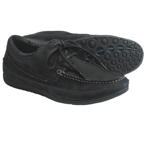 Sebago Mather Boat Shoes - Leather, Two Eye (For Men) in Black