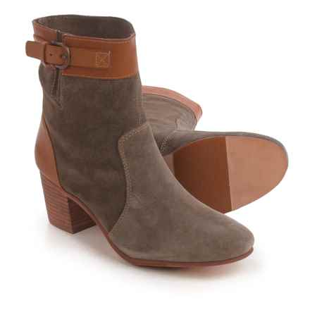 Sebago Nell Ankle Boots - Suede (For Women) in Dark Taupe - Closeouts