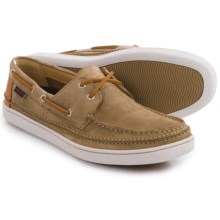Sebago Ryde Two-Eye Boat Shoes - Nubuck (For Men) in Tan Nubuck/Tan Leather - Closeouts