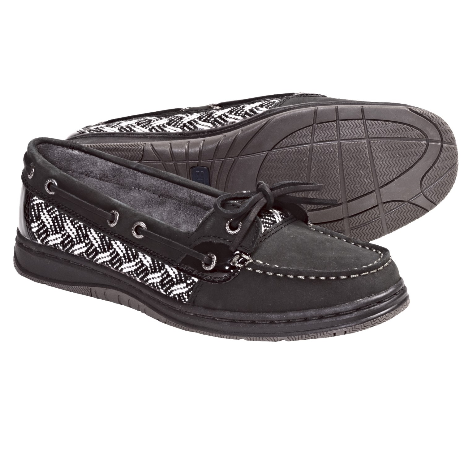 Sebago Sands One-Eye Boat Shoes -Leather (For Women) in Black