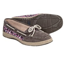 Sebago Sands One-Eye Boat Shoes -Leather (For Women) in Grey Floral - Closeouts