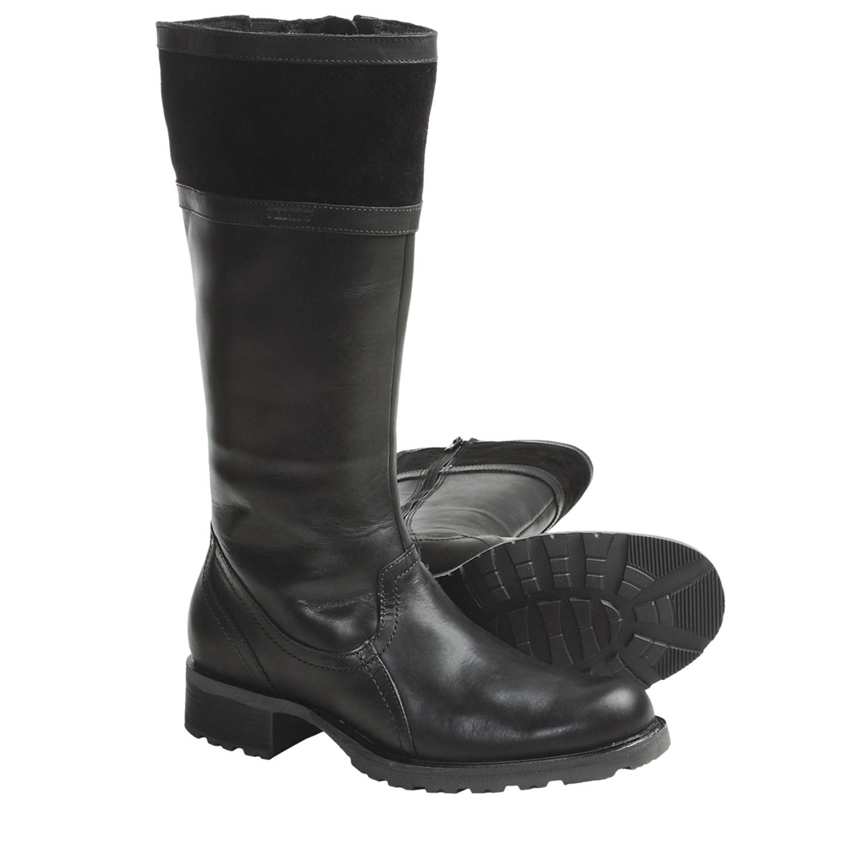 sebago saranac high boots waterproof leather for
