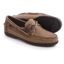 Sebago Schooner Boat Shoes - Nubuck (For Men) in Dark Taupe Nubuck/Leather - Closeouts