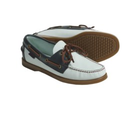 Sebago Spinnaker Boat Shoes - Leather (For Women) in Misty Blue/Navy