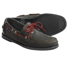 Sebago Spinnaker Leather Boat Shoes (For Men) in Black - Closeouts