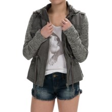Sebby Denim Utility Jacket (For Women) in Grey - Overstock