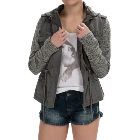 Sebby Denim Utility Jacket For Women