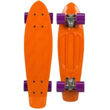 "Sector 9 Freeride Recycled Plastic Mini Skateboard - 5.875x22"" in Orange - Closeouts"