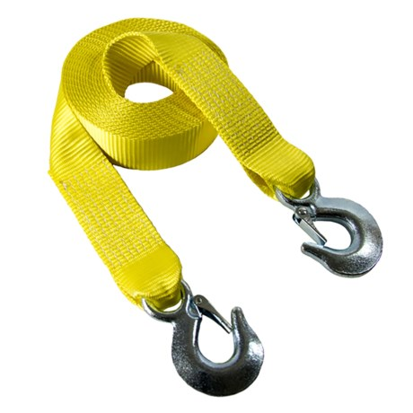 """Secure It Python Recovery Tow Strap - 2""""x30' in Yellow"""