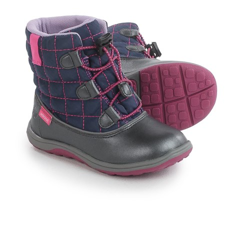 See Kai Run Abby Snow Boots - Waterproof (For Little and Big Girls) in Navy/Dark Gray