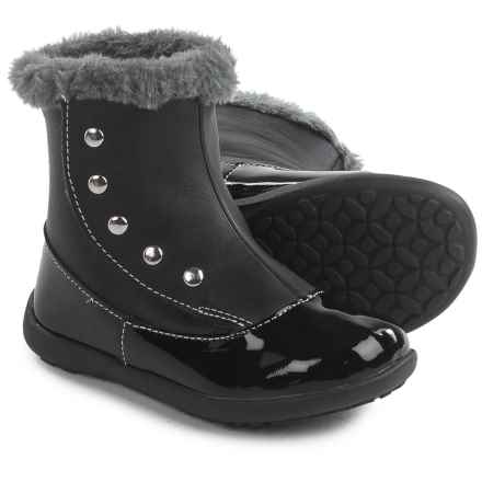 See Kai Run Amelia Boots - Patent Leather (For Toddlers and Little Girls) in Black - Closeouts