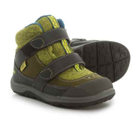 See Kai Run Atlas Snow Boots - Insulated, Waterproof (For Boys) in Green - Closeouts
