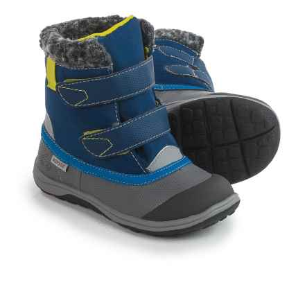 See Kai Run Charlie Boots - Waterproof (For Little and Big Boys) in Blue/Gray - Closeouts