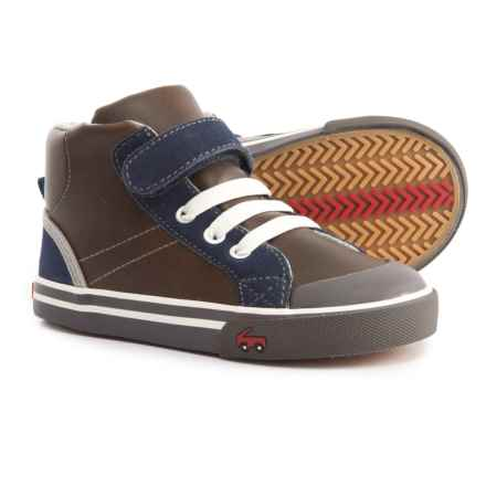See Kai Run Dane Sneakers - Leather (For Boys) in Brown Leather - Closeouts