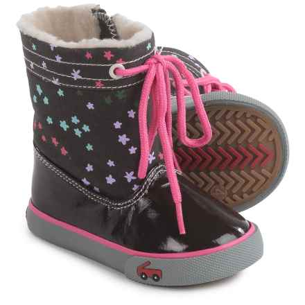 See Kai Run Greta Boots  (For Toddler Girls) in Brown - Closeouts