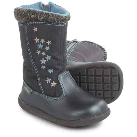 See Kai Run Hallie Boots - Waterproof (For Infants and Toddler Girls) in Dark Gray - Closeouts