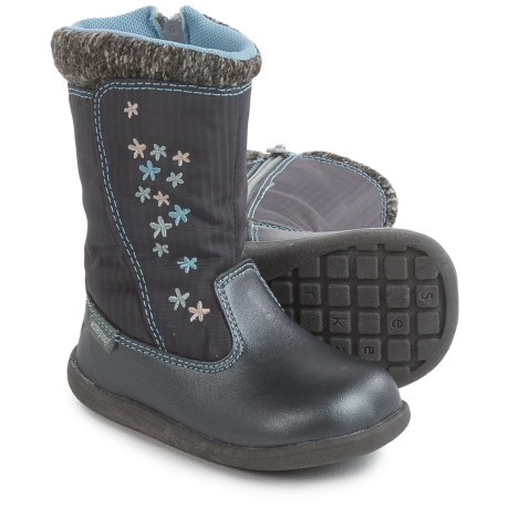 See Kai Run Hallie Boots - Waterproof (For Infants and Toddler Girls) in Dark Gray