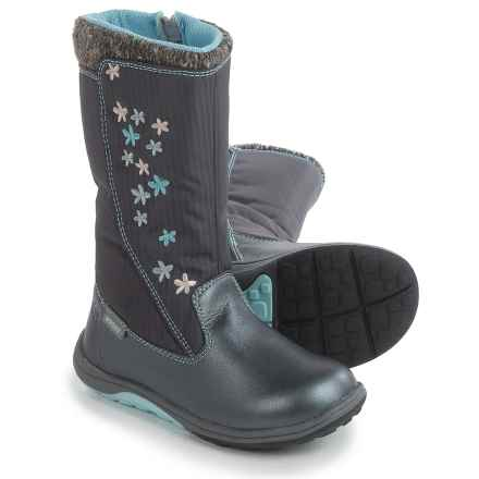 See Kai Run Hallie Boots - Waterproof (For Little and Big Girls) in Dark Gray - Closeouts