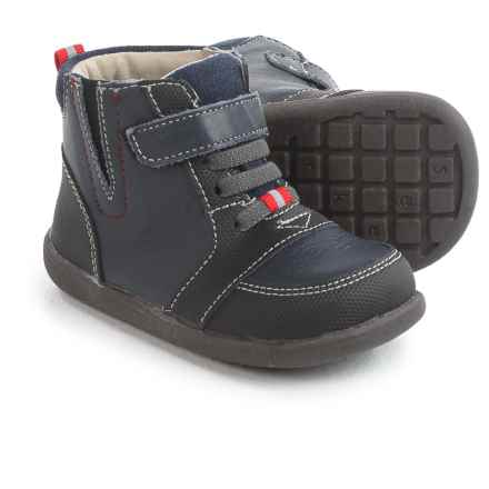 See Kai Run Ian Boots (For Boys) in Navy/Black - Closeouts