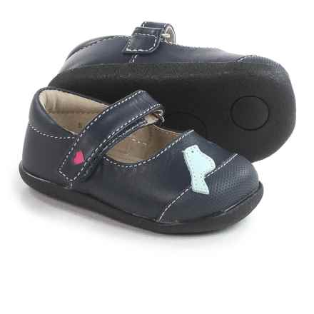 See Kai Run Kathryn II Mary Jane Shoes - Leather (For Infants and Toddler Girls) in Navy/Light Blue - Closeouts