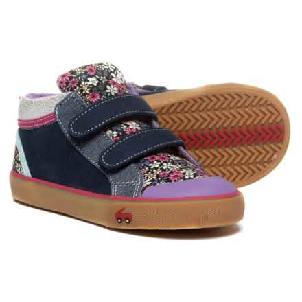See Kai Run Kya High-Top Sneakers (For Girls) in Dark Blue/Multi Floral - Closeouts