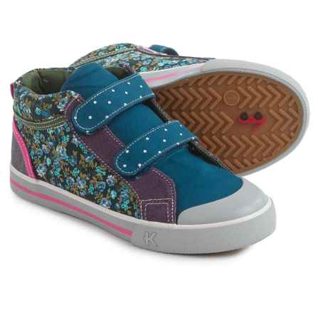 See Kai Run Kya Sneakers (For Little and Big Girls) in Navy/Purple - Closeouts