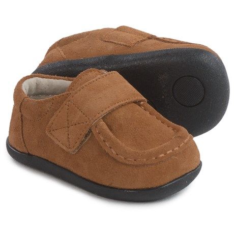 See Kai Run Mason Moc-Toe Shoes - Suede (For Infants and Toddler Boys) in Camel