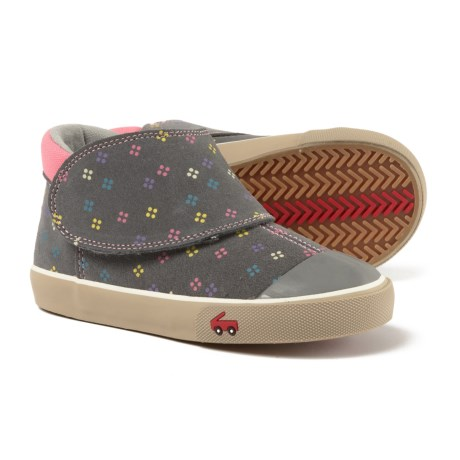 See Kai Run Monroe Sneakers - Leather (For Girls) in Gray Suede b7dd2c494cd4