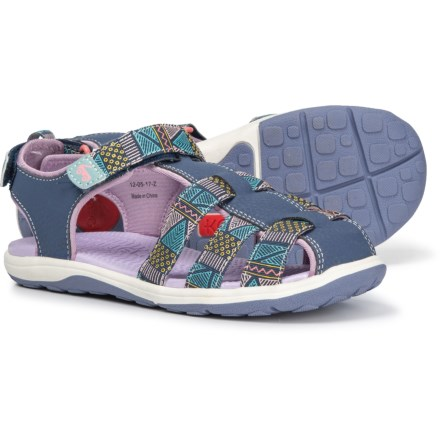 6f1c342fd48c See Kai Run Paley Webbing Sandals (For Little and Big Girls) in Dark Blue