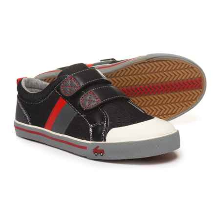 See Kai Run Russell Sneakers (For Boys) in Black Denim - Closeouts