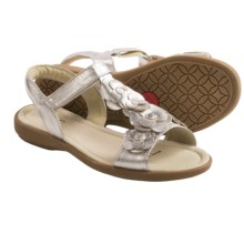 See Kai Run Zora Sandals - Leather (For Girls) in Silver - Closeouts