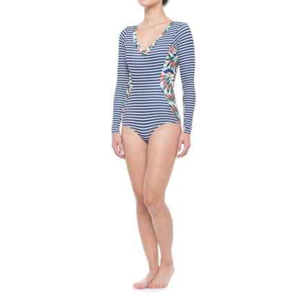 Seea Avila Swimsuit Rash Guard - Long Sleeve (For Women) in Camburi - Closeouts