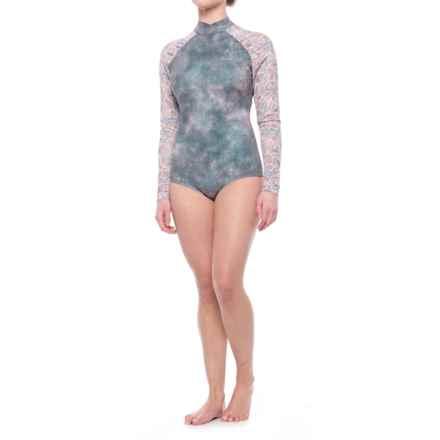 Seea Gaviotas Swimsuit Rash Guard - Long Sleeve (For Women) in Nopal - Closeouts
