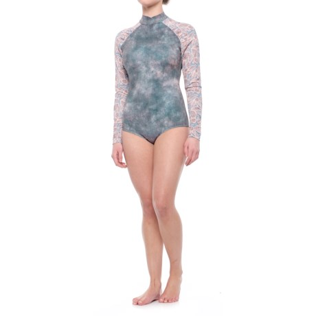 Seea Gaviotas Swimsuit Rash Guard - Long Sleeve (For Women) in Nopal