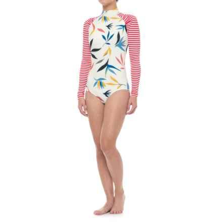 Seea Gaviotas Swimsuit Rash Guard - Long Sleeve (For Women) in Oasis - Closeouts