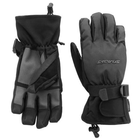 Seirus Airflow Ski Gloves - Waterproof, Insulated (For Men) in Black