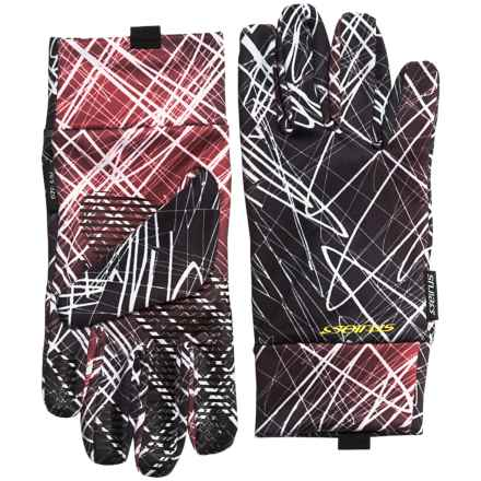 Seirus Dynamax Fleece Gloves (For Men and Women) in Skratch Red/Black - Closeouts