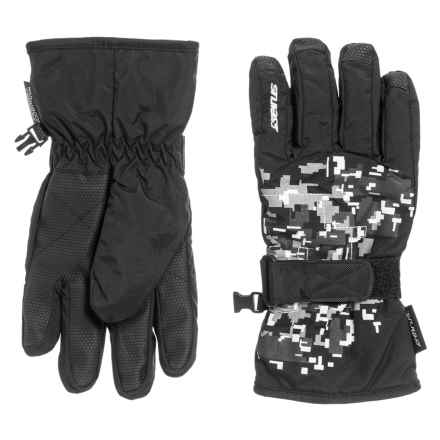 Seirus Jr. Digi Gloves - Waterproof, Insulated (For Kids) in Black/Gray - Closeouts