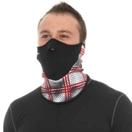 Seirus Neofleece® Combo Scarf Gaiter (For Men and Women) in Battalion White/Red - Closeouts
